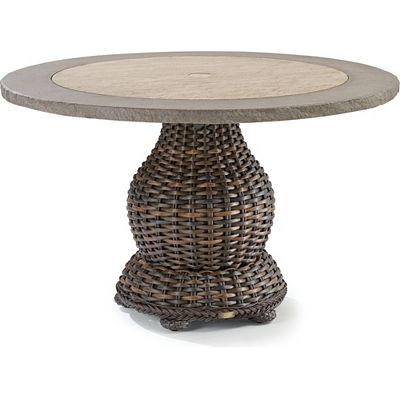 . South Hampton Large Round Pedestal Dining Table   Outdoor Furniture
