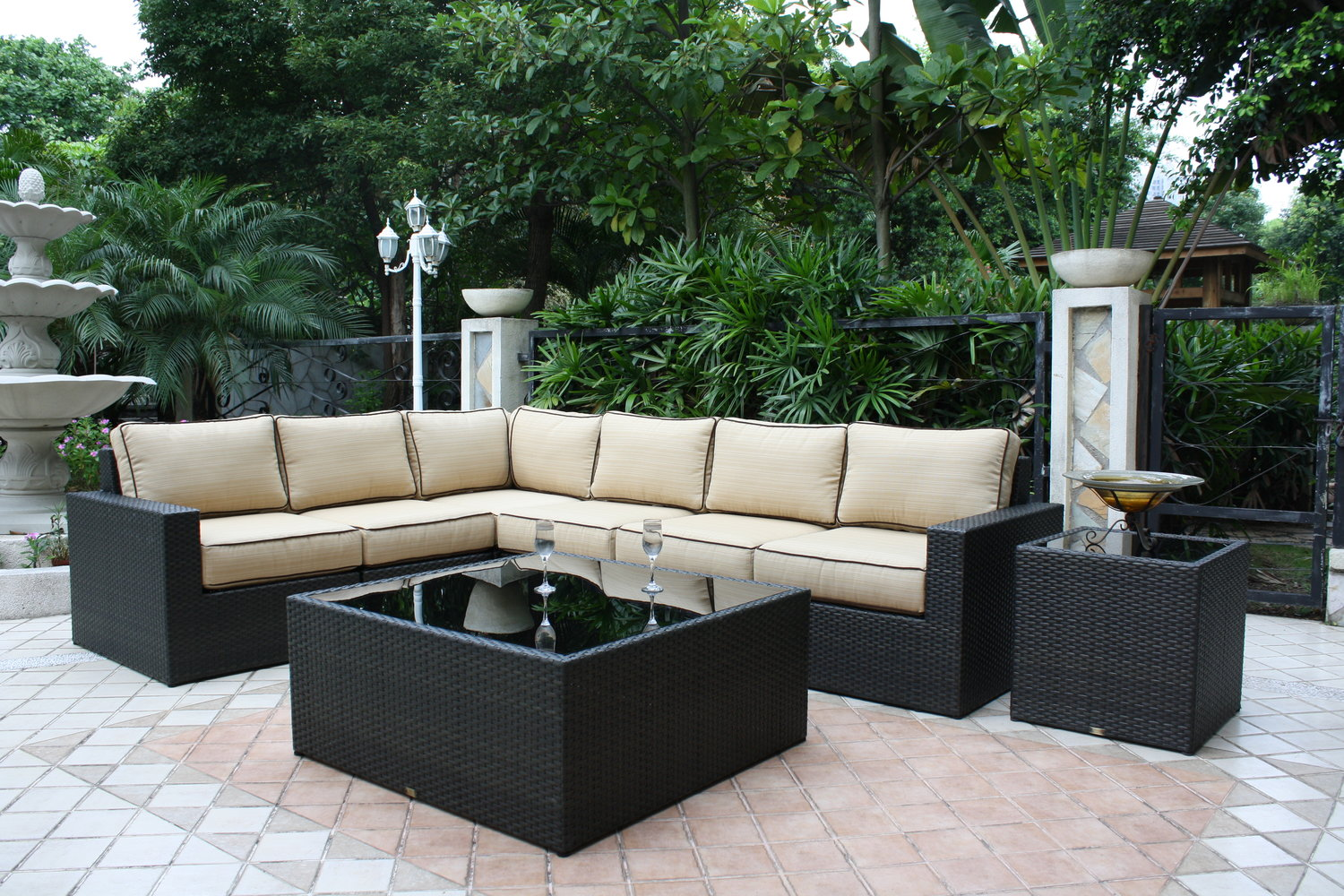 patio renaissance del mar sectional sofa Outdoor Furniture