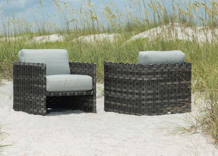 ebel allegre outdoor woven club chair